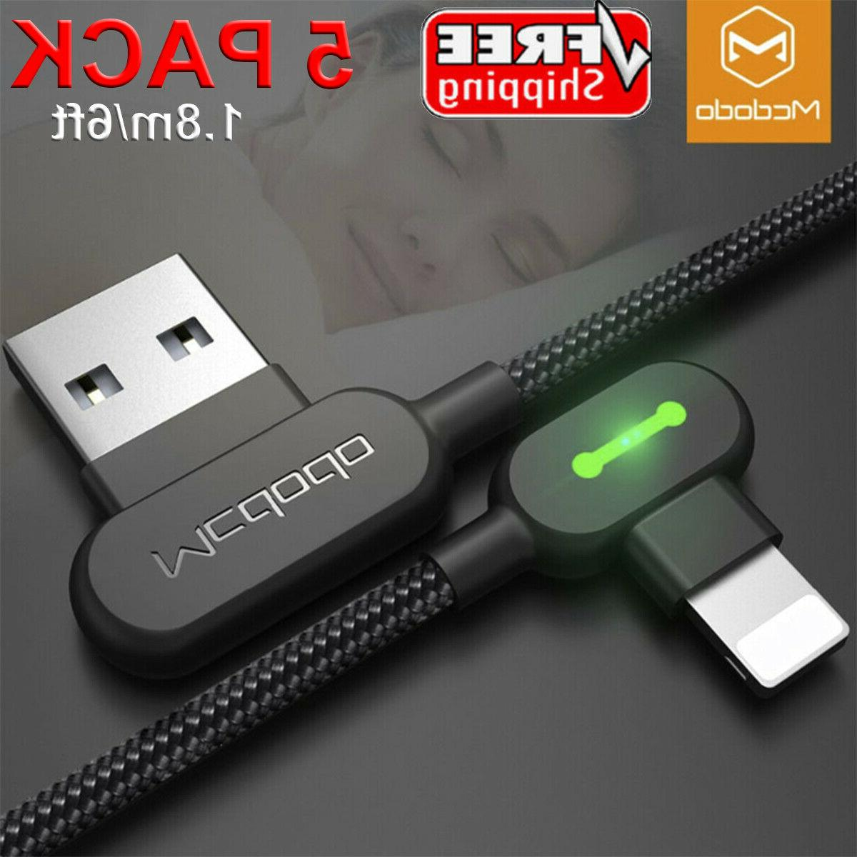 5 pack usb lighting charging cable data