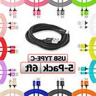 5 pack usb type c cable 6ft