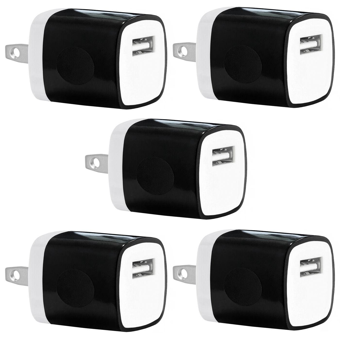 5x Pack 1A Universal USB Travel Wall Charger Power Adapter f