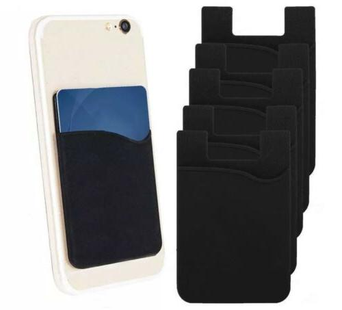 5x pack of black cell phone wallet