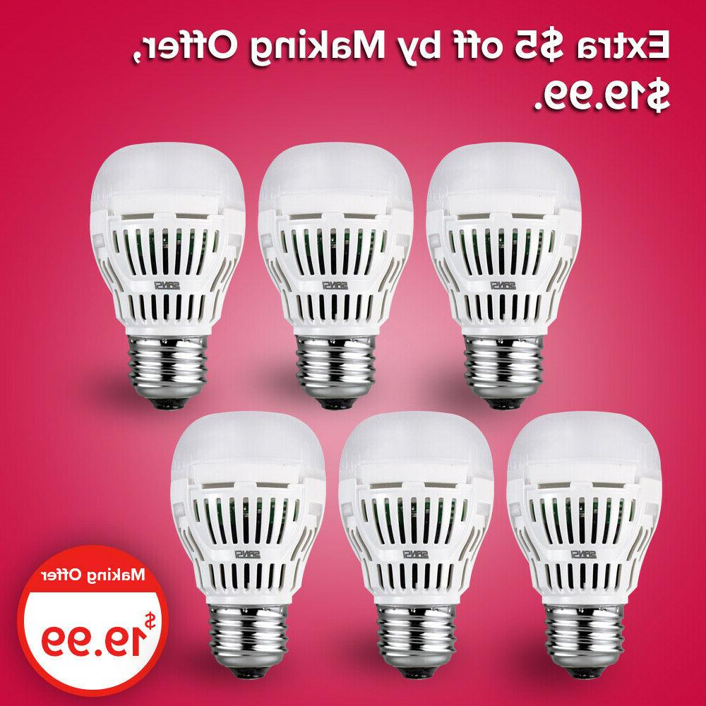 6 pack led light bulb 5w 5000k