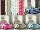 7 piece reversible geometric comforter set