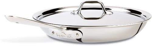 All-Clad Fry Pan with Lid, 12 Inch Pan, Stainless Steel, Tri