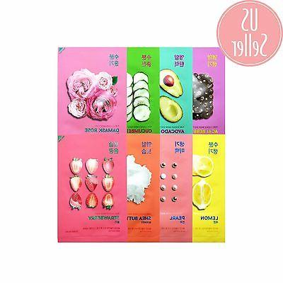 Holika Korean Face Mask - Pure Essence Variety Pack - 8 type