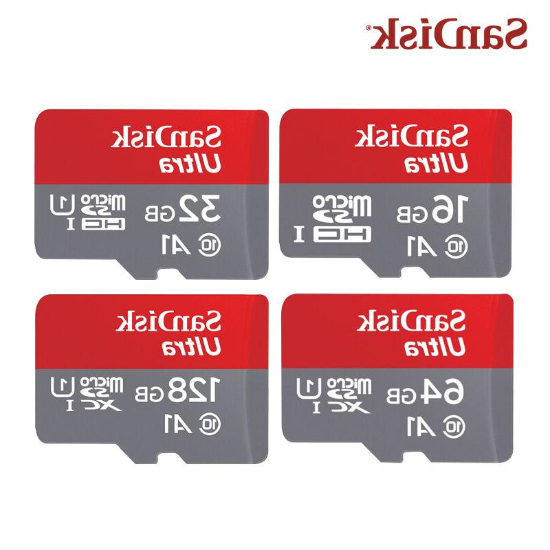 SanDisk NEW 16GB 32GB 64GB Ultra A1 Micro SD SDHC Card 98MB/
