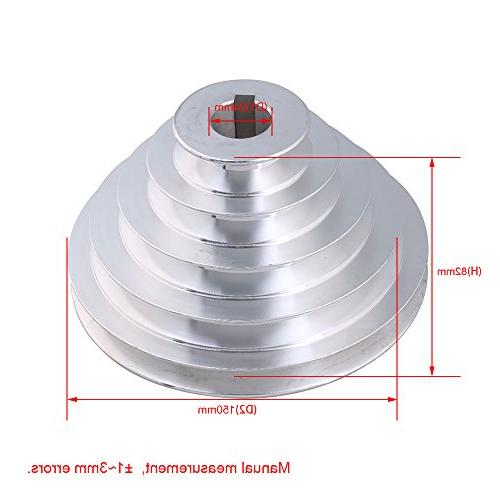 CNBTR A Pagoda Pulley 5 Pulley 24mm Bore 54mm-150mm Aluminum 5