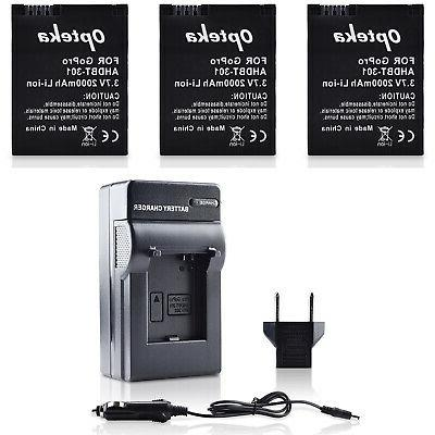 Extended & Fast Charger for HERO3 HERO3+