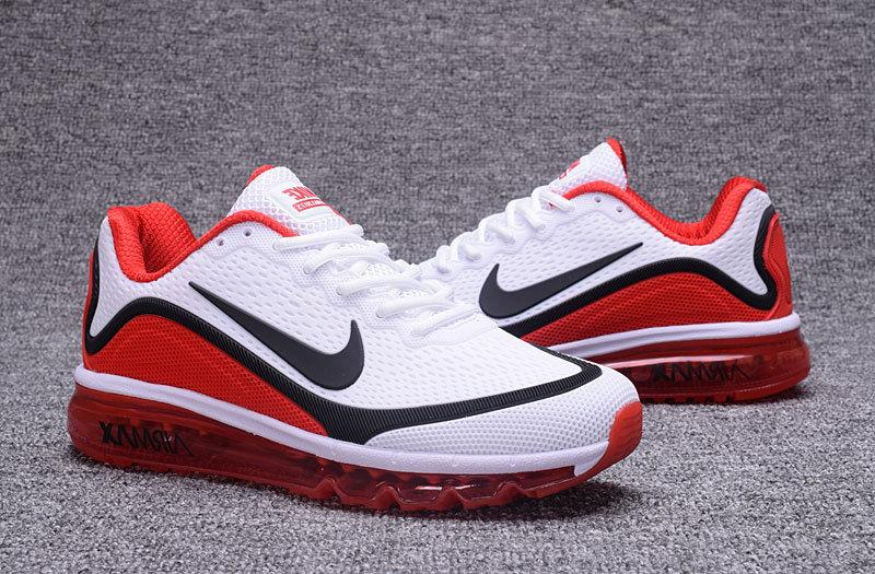 NIKE AIR MAX 2017 Men's Running Trainers Shoes White/Red New