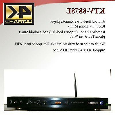 Android KTV-8878E karaoke player 4tb harddrive load with 330
