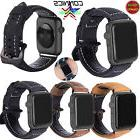 For Apple Watch iWatch 38/42mm Band Genuine Leather Wrist St