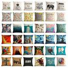 Art Animal Decorative Cotton Linen Throw Pillow Case Cushion