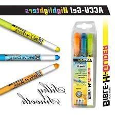 Highlighter Marker With Pen Combo with Chisel Tips, Comes in