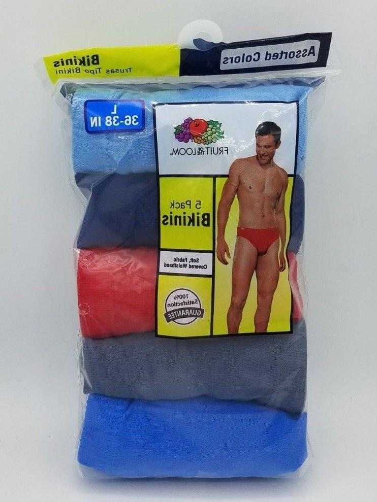 Bikini Briefs Fruit of the Loom Men's 5-pack Assorted Colors