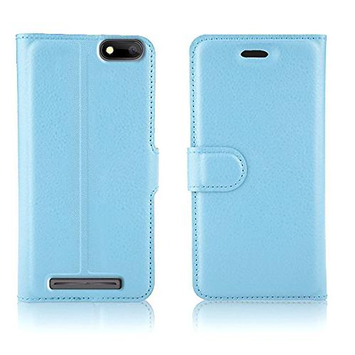 Gzerma HD Case with Protector, Lightweight PU Wallet with and Film BLU Advance 5.0 HD A050 Dash