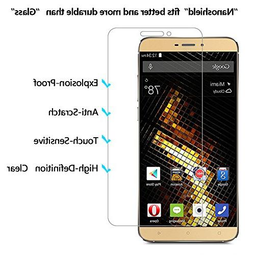 BLU VIVO and Screen Classic Leather Looks Soft Back Shatter-proof Protective BLU VIVO5 5.5 Inch