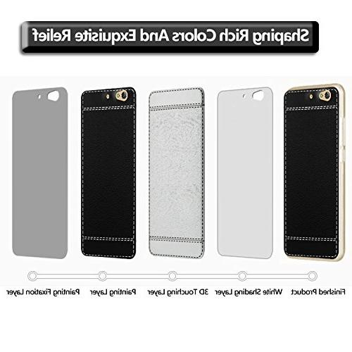 BLU 5 and Screen Protector, Classic Leather Looks Soft TPU Back Shatter-proof