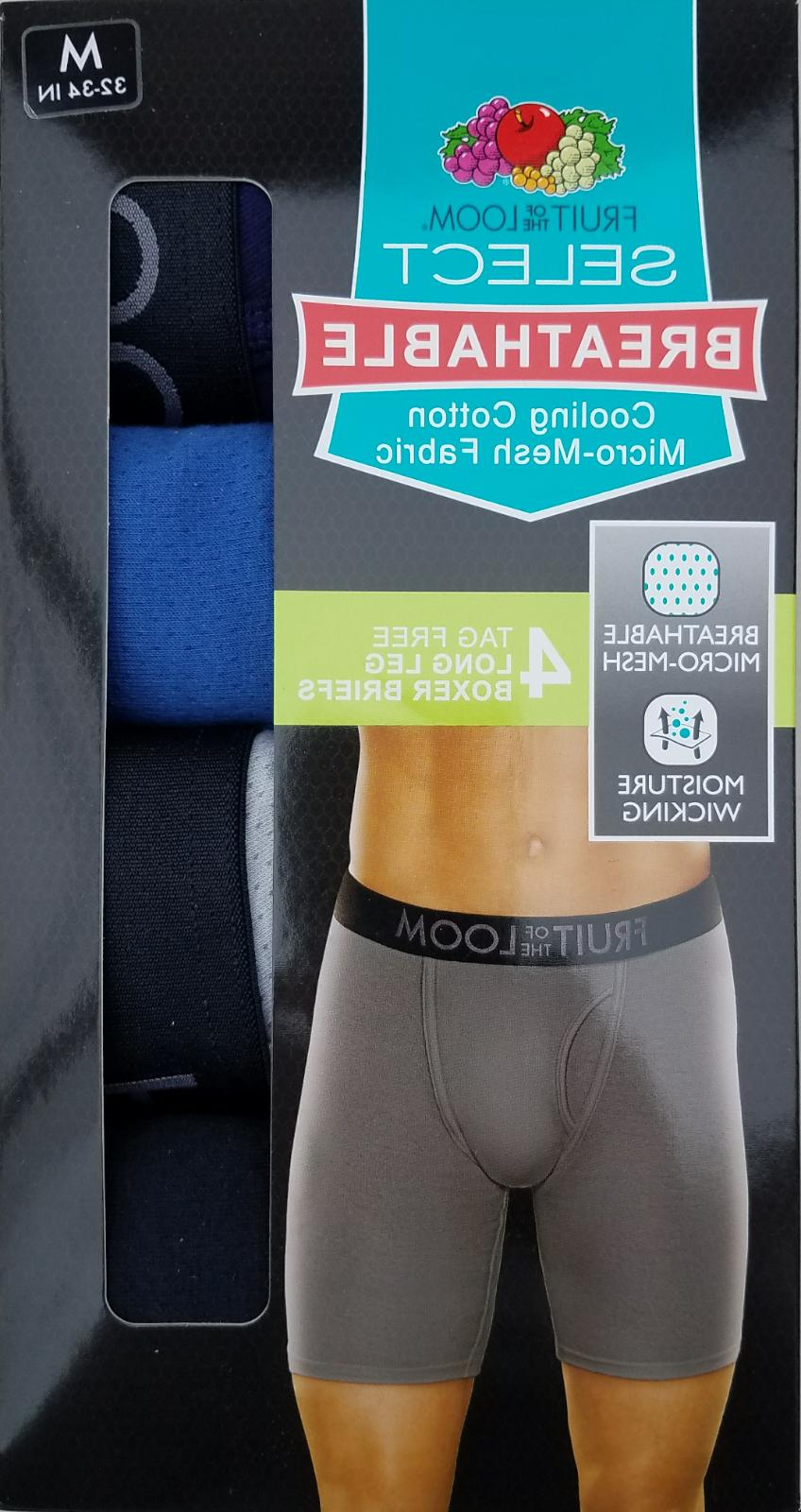 Fruit of the Loom Breathable Long Leg Boxer Brief 4 or 5 Pac