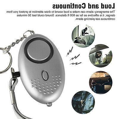 5 Safe Personal Alarm With LED Light, 140DB