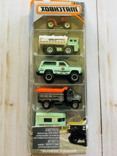Matchbox Cars Ranger Rescue National Park Service 5 Pack 201