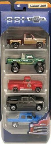 Matchbox Chevrolet Trucks 100 Years VHTF 5-Pack W/ SQUARE BO