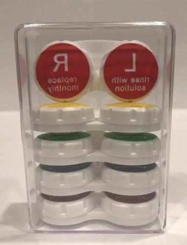 contact lens cases 5 pack with clear