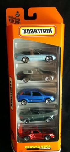 Matchbox Euro Sports 5-Pack Gift Set Die Cast Toy Car Porsch