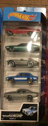 Hot Wheels 2019 Fast & Furious 5 Pack Set Movie Impala Corve