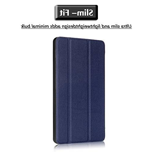 Gzerma with Screen Slim Flip Folio Stand Leather Cover Clear Protective Amazon Fire7 Edition,