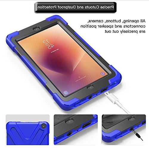 Gzerma HD 8 Case 7th Generation with Screen Hybrid Kickstand, Hand Strap for Amazon Kindle Fire HD8 Tablet 2018 Blue 2