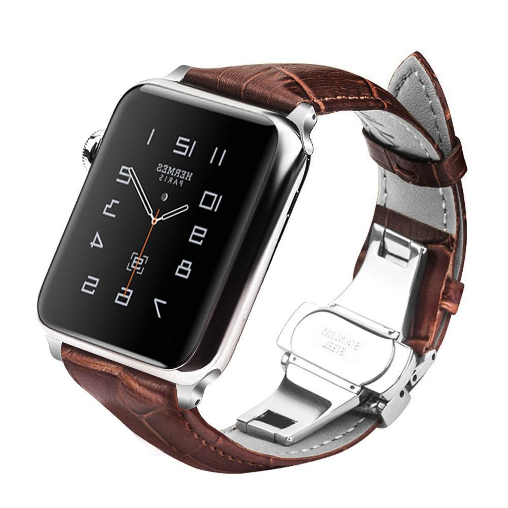 genuine leather strap bands for watch series