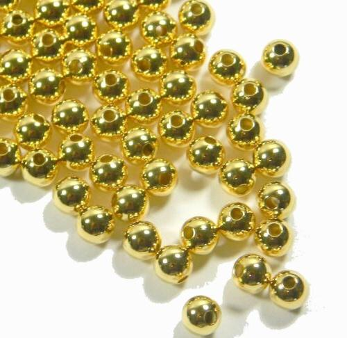 gold plated round spacer 5mm