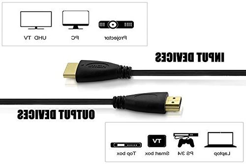 5 HDMI Cables-6ft 90 Adapter, Cord Ties PC 3D, ARC, Money Deliver Dazzling Quality