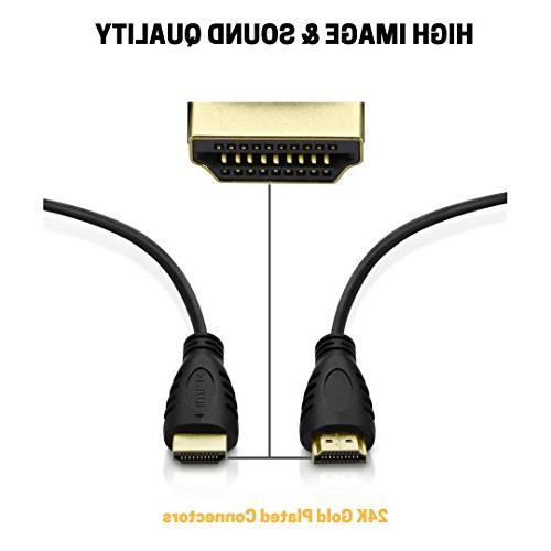 5 Cables-6ft with 90 Degree Cord Ties PC 3D, 1080P, Money & Dazzling Quality