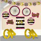 HOT PINK AND GOLD 40th Birthday ROOM DECORATING KIT  ~ Party