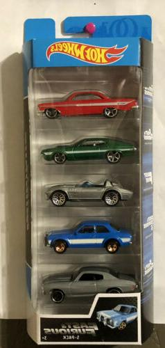 HOT WHEELS FAST AND FURIOUS 5 PACK STREET RACERS MINT VEHICL