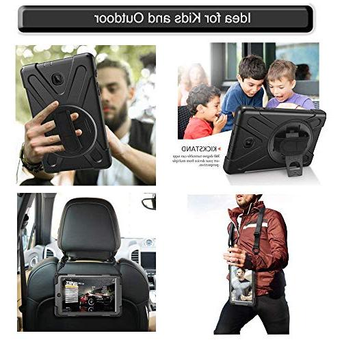 Gzerma for IPad 9.7 2018 with Protector Gen / 5th Generation Heavy Duty Rugged Shockproof Cover + Hand Holder/Shoulder Strap/Kickstand IPad 9.7