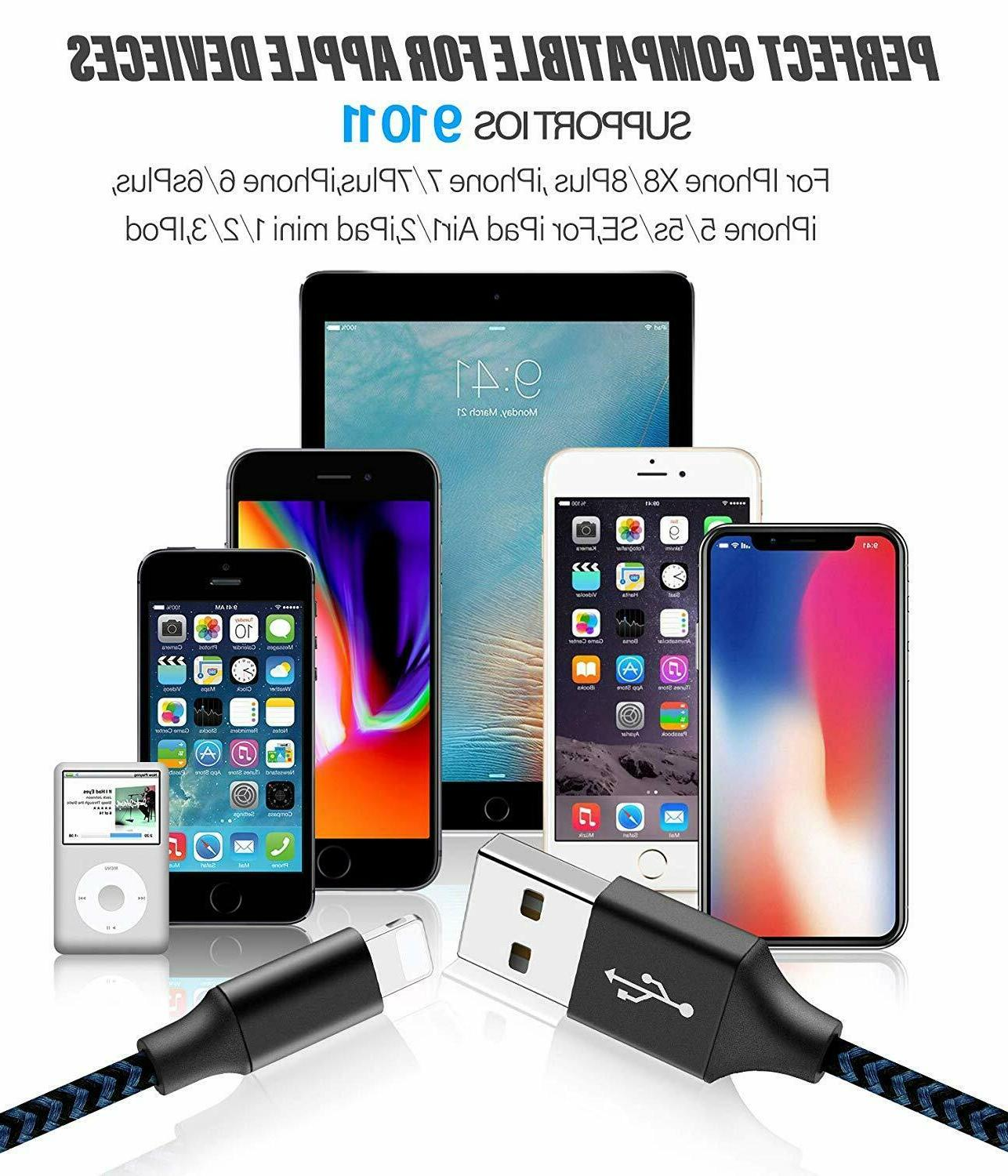 iPhone Charger Nylon USB Charging& Syncing Compatible