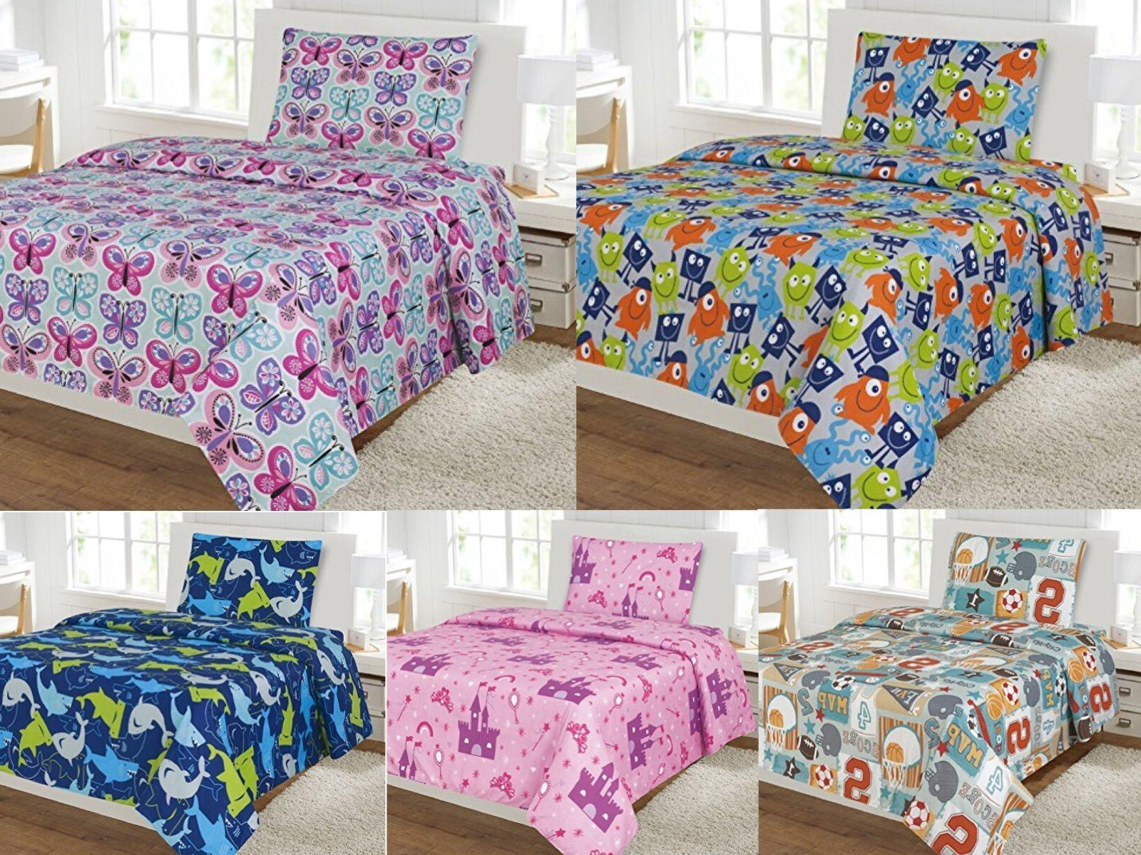 kids 3 piece sheet set twin size