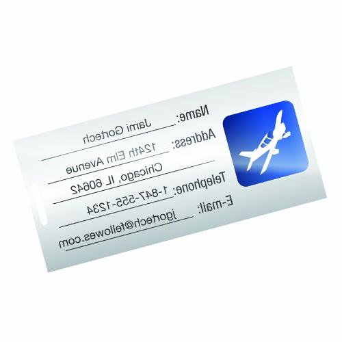 Fellowes Sheets, Adhesive, Luggage Tag Size, 5 5