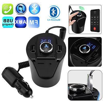 LCD Car FM Transmitter Cigarette Lighter MP3 Player USB Char