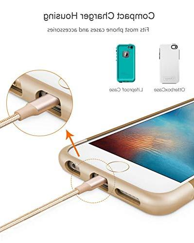 Phone Novtech Pack 3ft Long Charging Cable Charging Compatible with Air iPad Gold