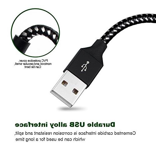 Charger 4Pack 6FT 6FT 10FT to USB Nylon Braided for X/8/8Plus/7/7Plus/6/6Plus/6s/6sPlus/5/5s/5c/SE and