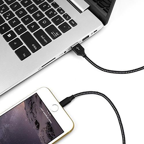 Lightning Cable, Charger Cables 6FT 6FT USB Syncing Nylon for iPhone More