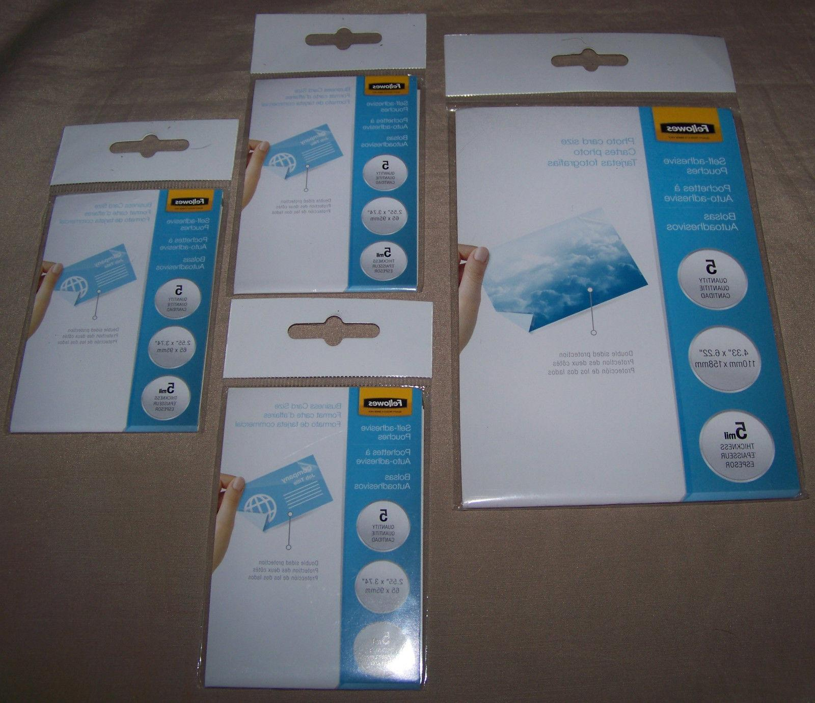 lot of 3 five packs self adhesive