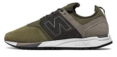 New Balance Men's 247 Luxe Shoes Green with Tan