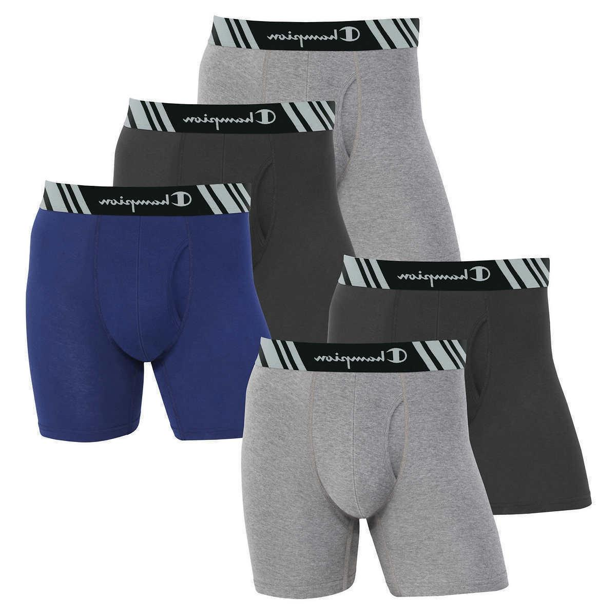 XL Large 5 Pack Champion Men/'s Boxer Brief with Double Dry Technology Medium