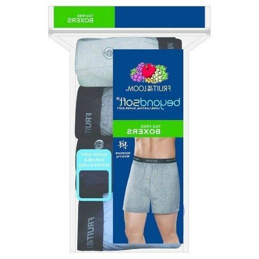 Fruit of the Loom Men's 5 Pk Beyond Soft Knit Boxers