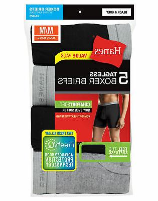 Hanes Boxer 5-Pack with Comfort Waistband Stretch Grey