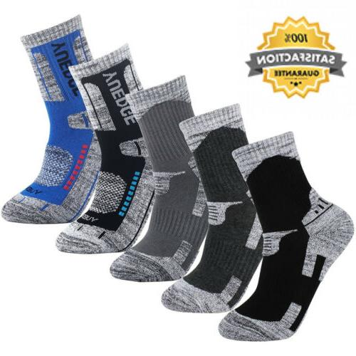 Men's Hiking Walking Outdoor Sport Socks - YUEDGE 5 Packs Me