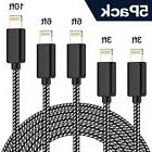 TNSO MFi Certified Phone Cable 5 Pack  Extra Long Nylon...